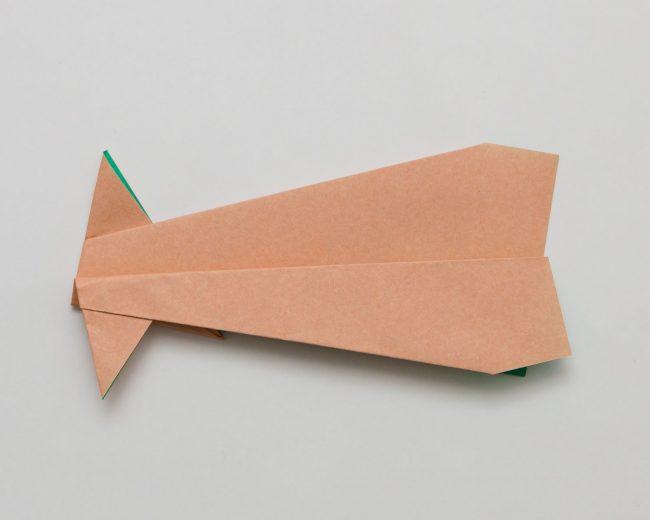 いかひこうきの折り方