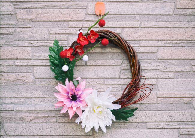 正月飾り リース