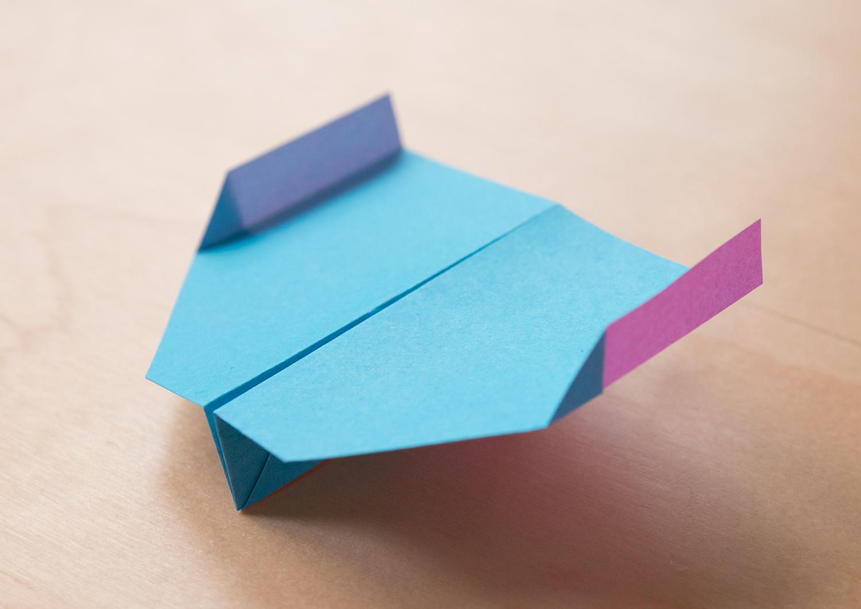 世界 一 飛ぶ 紙 飛行機 正方形