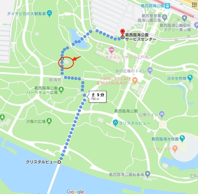 葛西臨海公園 遊具の場所