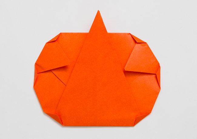 折り紙の折り方「かぼちゃ」