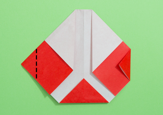 「サンタさん」の折り紙の折り方