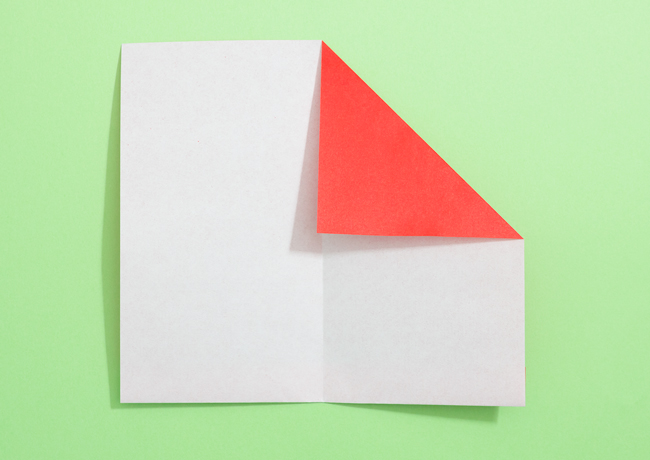 「サンタの帽子」の折り紙の折り方